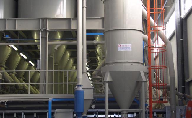 Filtro per pulizia pneumatica reparto silos