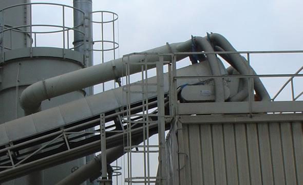 Tubazioni in lamiera nera per aspirazione impianto di betonaggio