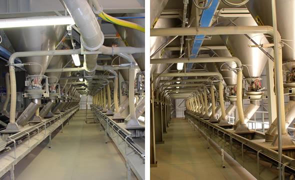 Tubazioni in lamiera nera per aspirazione polveri estrazione silos